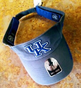 KENTUCKY WILDCATS ICE VISOR BY 47 BRAND, DISTRESSED GRAY, ADJUSTABLE, NWT