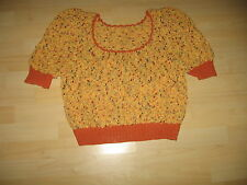 Authentic Vintage Women'S Hand Knit Italian Silk And Cotton Sweater