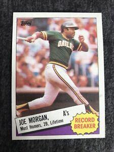 1985 TOPPS RECORD BREAKER #5 JOE MORGAN HOF OAKLAND ATHLETICS Near Mint