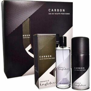 Confezione Regalo BYBLOS CARBON Profumo Uomo EDT 120ml + Deodorante Spray 150ml