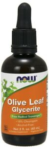 NOW Foods Olive Leaf Glycerite Free Radical Scavenger Alcohol-Free Non-GMO 60ml