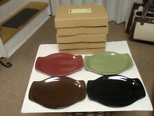 """Longaberger Pottery, Wt """"Small Oval Platter"""" Chocolate Only, New In Box!"""