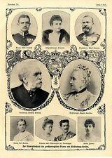 Per Diamante nozze del großerzoglichen coppia di Meclemburgo-Strelitz v.1903