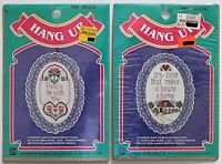 Designs for the Needle Cross Stitch Lot of 2 Hang Ups Peace/House  NIP