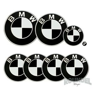 For BMW Badges - Matte Black  - All Models Decals Wrap Stickers Overlays
