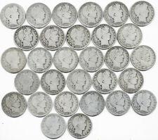 30 Coin Barber Silver Half Dollar Collection