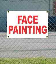 2x3 FACE PAINTING Red & White Banner Sign NEW Discount Size & Price FREE SHIP