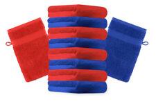Betz lot de 10 gants de toilette Premium bleu royal & rouge, 16 x 21 cm