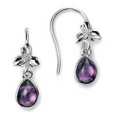 Hook Pear Amethyst Costume Earrings
