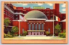 Hayden Planetarium 81st and Central Park West New York City Linen Postcard