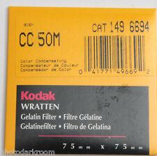"""Kodak Wratten No. CC 50M Gelatin Filter - 170 4105 - 75x75mm 3x3"""" Square - NEW"""