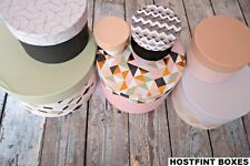 ROUND IKEA HOSTFINT SET OF 7 DIFFERENT SIZE NESTED STORAGE BOXES