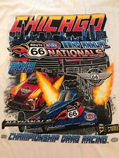NHRA DRAG RACING 2019 ROUTE 66 NATIONALS WHITE T- SHIRT  SIZE XL