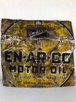 Vintage Enarco Motor Oil National Refining Co. Metal Sign