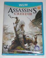 Nintendo Wii U Video Game - Assassin's Creed III (New) Wii U