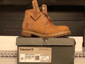 Men's 6-Inch Premium Timberland Waterproof Boots Size .10 Wheat Nubuck TB10061