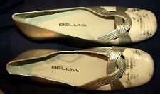 "NEW Bellini ""Biloxi"" Ballet Flats Snake Print Design, White/Silver Size 8 M"