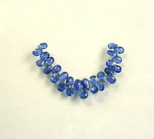 "BLUE KYANITE faceted pear beads AAA 6-8mm 3"" strand"
