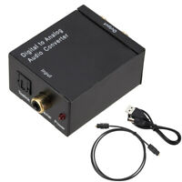 Audio Converter Optical Coaxial In Headphone Speaker RCA Out Digital To Analog