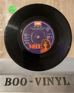 T. Rex - New York City / Chrome Sitar 7'' Vinyl Single MARC 10 (1975) EX CON