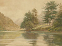 R. Walker - Mid 20th Century Watercolour, Tranquil River Landscape