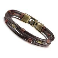 Herrenarmband aus Leder Tribal Braid ueberschrift Handkette Armband Lederband OE