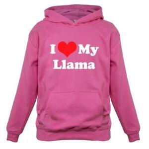 I Love My Llama - Kids Childrens Hoodie Llamas Alpaca Camelid Pet Farm Camel