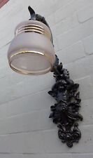 Antique Cherub Angel Cast Iron Wall Light Finished By Blacksmith Price For Pair
