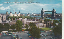 BF30811 tower of london uk tower bridge and the river   front/back image