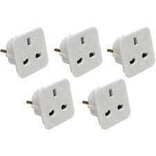 5 x UK to EU Europe Power Adaptor Plug Converter Travel Adapter European 2 Pin