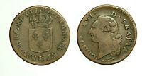 pcc1665_8) France Louis XVI, Sol à l'Ecu 1782 AIX à l'arc