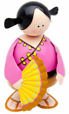 Figurine Kokeshi Girl Pink Bobble Large NEW