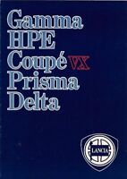 Lancia 1983-84 UK Market Sales Brochure Delta Prisma Coupe HPE Gamma