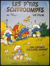 LES P'TITS (Petits) SCHTROUMPFS Affiche Cinéma / Movie Poster PEYO