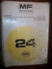 Massey Ferguson MF34 : catalogue de pièces 1987