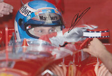 Mika Salo Hand Signed Ferrari Photo 12x8 2.
