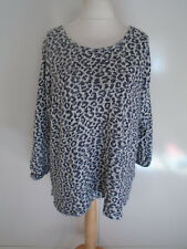NEXT Jumper Plus Size XL Animal Leopard Print Sparkly Oversized Slouch