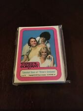 1978 Three's Company Complete Trading Sticker Set 1-44  By Topps