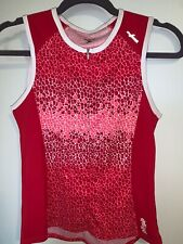 Shebeest Sleeveless Womens Cycling Jersey Size Small Pink Half-zip