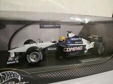 1:18 Formel 1, Williams FW23 Ralf Schumacher mit Figur, Hot Wheels, NEU & OVP