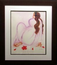 """RC Gorman poster """"Taos"""" Hand Signed Offset Lithograph with custom frame"""