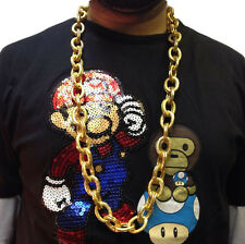 HIP HOP CHAIN NECKLACE • 50cm • GOLD STYLE • COSTUME #190