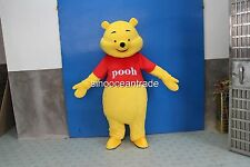 2018 New Winnie the Pooh Bear Mascot Costume Fancy Dress UK Free Fhipping-Gift A