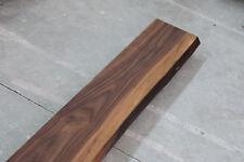 Fensterbank Nussbaum Massiv Holz mit Baumkante Fensterbrett Brett Bohle NEU