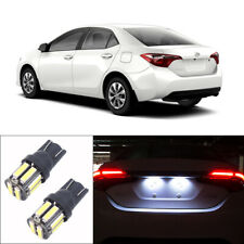 One pair White LED Bulbs Fit for 1998-2019 Toyota Corolla License Plate Lights