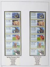 GUERNSEY 2016 Post and Go Strips (5) High Face Value CS961