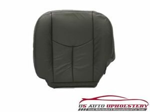 2003-2007 GMC Sierra 2500HD SLT Driver Side Bottom LEATHER Seat Cover DK GRAY