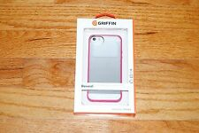 Griffin Reveal Protective Clear Case with Red for iPhone 5/5s