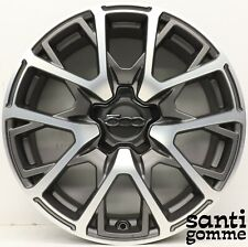 "1 CERCHIO IN LEGA FIAT 500X ANTRACITE DIAMANTATO ORIGINALE 7 X 18 "" 735641714"