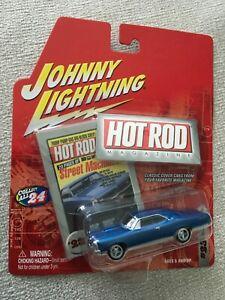 2003 JOHNNY LIGHTNING HOT ROD MAGAZINE COVER CAR 1966 PONTIAC GTO Blue